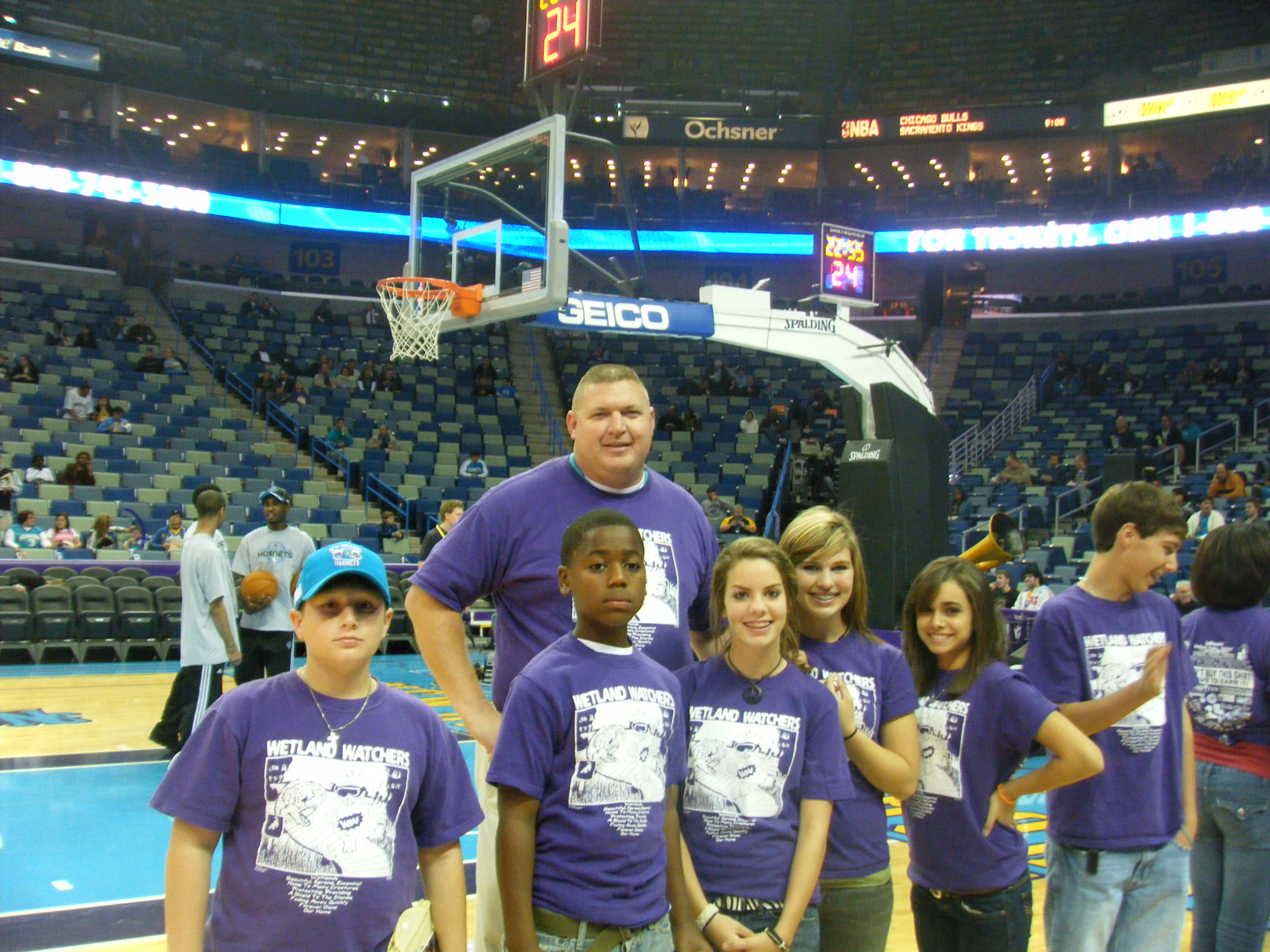 NBA Hornets Save The Wetlands Night at the Hive!