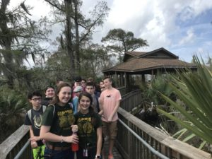 Hurst Middle Wetland Watchers Host New York School Group at Wetland Watchers Park